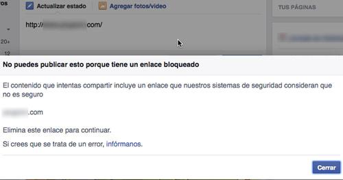 bloqueo en Facebook